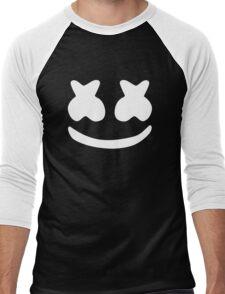 Marshmello White Men's Baseball ¾ T-Shirt