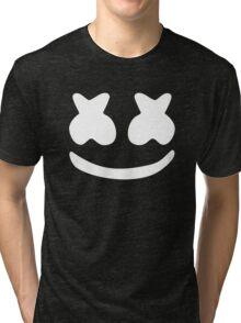 Marshmello White Tri-blend T-Shirt
