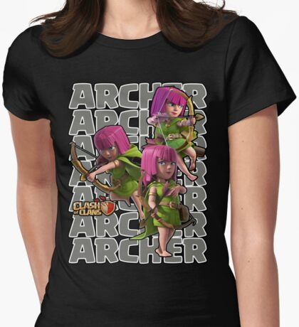 Clash of Clans - Archer Womens Fitted T-Shirt