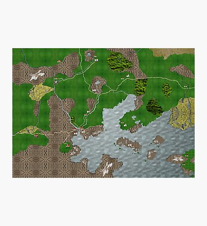 Midgard Map Photographic Print
