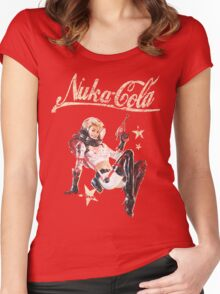 Nukacola Pin-up Women's Fitted Scoop T-Shirt