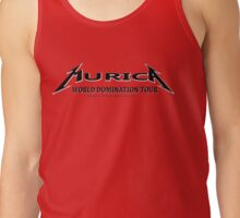 Murica, trying to rule the world since 1776 (Murica World Domination Tour Logo b/w ) Tank Top