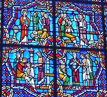 Stained Glass in Riverside Church, New York by Graeme  Hyde