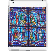 Stained Glass in Riverside Church, New York iPad Case/Skin