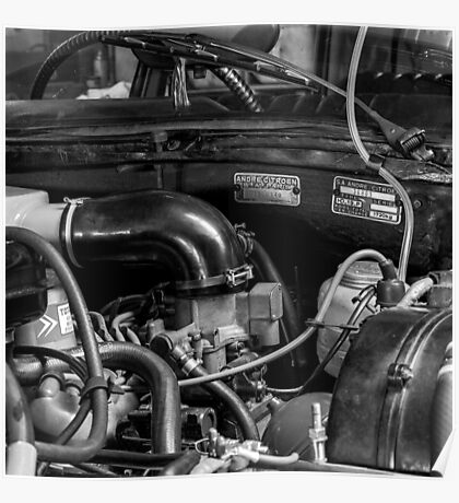 Citroën D Series Engine Bay Poster
