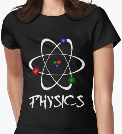 Physics - atom2 Womens Fitted T-Shirt
