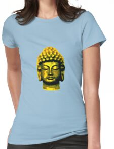 Buddha head gold Womens Fitted T-Shirt