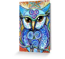 Spirit Owl, original illustration by Sheridon Rayment Greeting Card