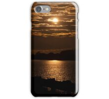 East Coast Sunset over a river iPhone Case/Skin