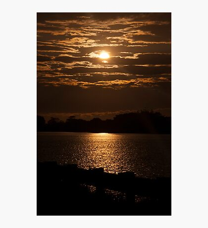 East Coast Sunset over a river Photographic Print