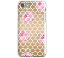 Rose Gold Trellis iPhone Case/Skin