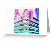 Pastel Brisbane City Down Under Bar Print Greeting Card