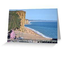 West Bay Beach, Dorset Greeting Card