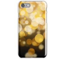 Golden and white bokeh iPhone Case/Skin