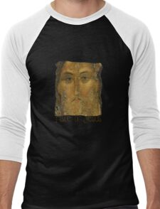 Jesus Christ painted by Andrei Rublev Men's Baseball ¾ T-Shirt