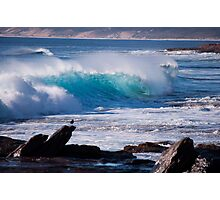 Crashing Turquoise Wave  Photographic Print