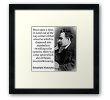 Once Upon A Time - Nietzsche Framed Print