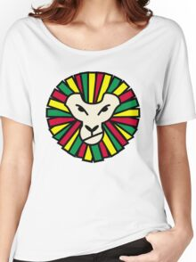 Lion Rastafarian Flag Women's Relaxed Fit T-Shirt
