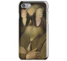 Alter Mann mit Schmetterling iPhone Case/Skin