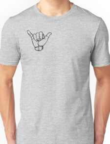 Shaka Hand The Letter Y American Sign Language ASL #MadEDesigns Unisex T-Shirt