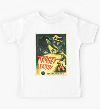 Vintage poster - Target Earth Kids Tee