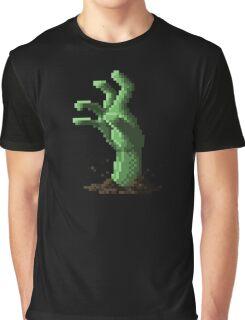Zombie Grasp Pixels Graphic T-Shirt