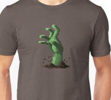 Zombie Grasp Pixels Unisex T-Shirt