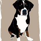 Greater Swiss Mountain Dog by Karen Harding