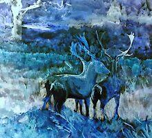 Fantasy Deer by Karen Harding