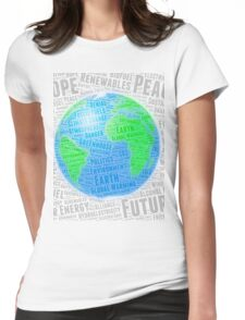 Global Warming Word Cloud - Design 2 Womens Fitted T-Shirt