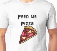 Iskybibblle Products / Feed me Pizza/ Black Unisex T-Shirt