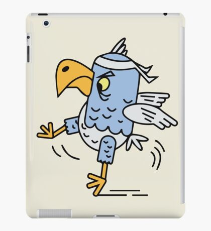 Karate fighting bird iPad Case/Skin