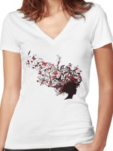 Mother Nature Women's Fitted V-Neck T-Shirt