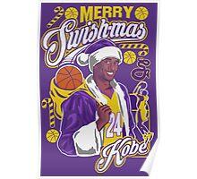 Kobe Bryant Merry Swishmas Tee Poster