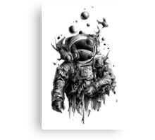Undead astronaut floating in space Canvas Print