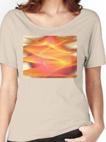 Golden Pink Chiffon Women's Relaxed Fit T-Shirt