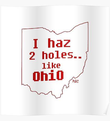 I haz 2 holes.. like OhiO Poster