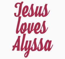 Jesus loves Alyssa Kids Tee