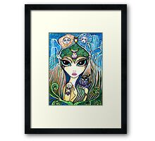 Owlete The Owl Queen, by Sheridon Rayment Framed Print