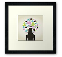 Girl spa Framed Print