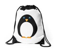 Cute Cartoon Simple Penguin Drawstring Bag