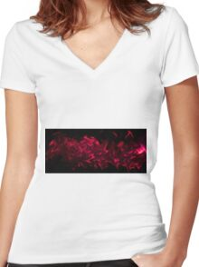 Liquified Cool Women's Fitted V-Neck T-Shirt