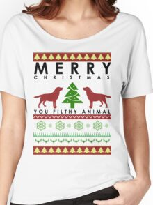 you CHRISTMAS FILTHY ANIMAL labardor retriever Women's Relaxed Fit T-Shirt