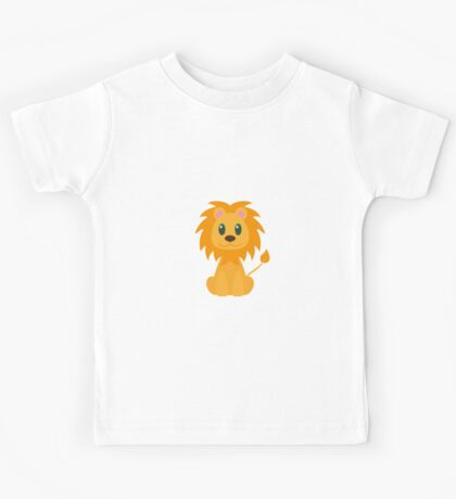 Cute Cartoon Male Lion Kids Tee