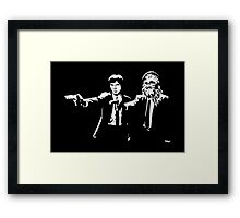 Star Wars Pulp Fiction - Han and Chewbacca  Framed Print