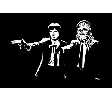 Star Wars Pulp Fiction - Han and Chewbacca  Photographic Print