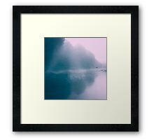 Pastel Serenity - Moody River Scene Framed Print