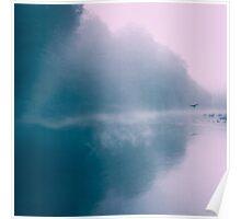 Pastel Serenity - Moody River Scene Poster