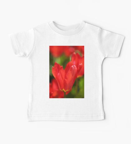 Red Tulips Baby Tee