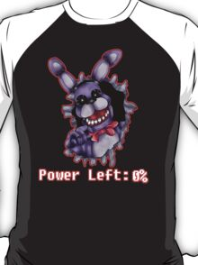FIVE NIGHTS AT FREDDY'S-Bonnie- Power Left 0% T-Shirt